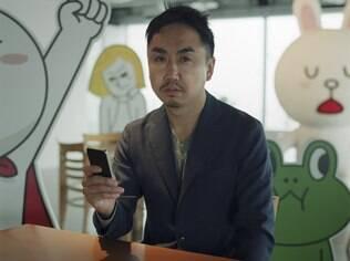 Idezawa, um dos executivos da Line