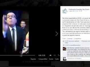 Federação Israelita de São Paulo publicou parte do vídeo gravado com Tas