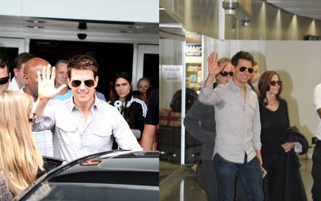Tom Cruise desembarca no aeroporto Santos Dumont, no Rio de Janeiro