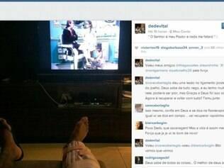 Dedé revelou em conversa no Instagram a sua lesão
