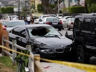 BMW que suspeito dirigia foi alvejada