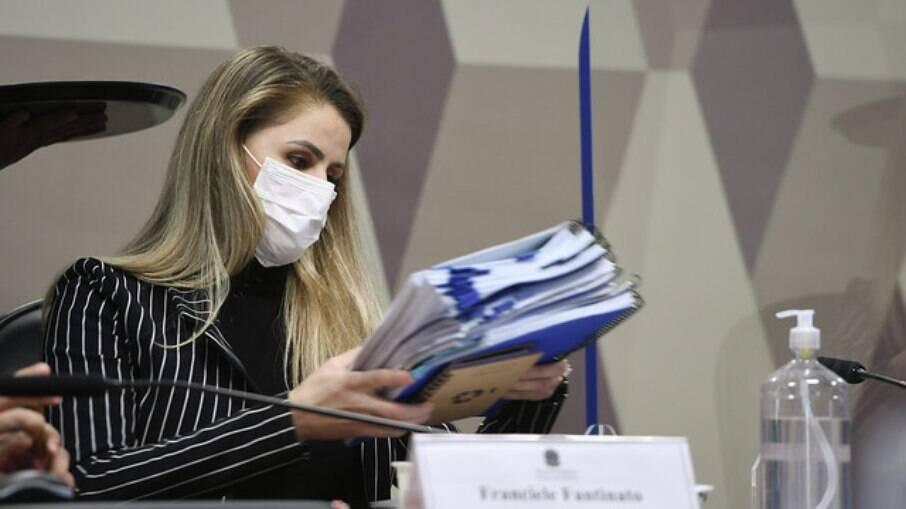 Franciele Frantinato na CPI da Covid