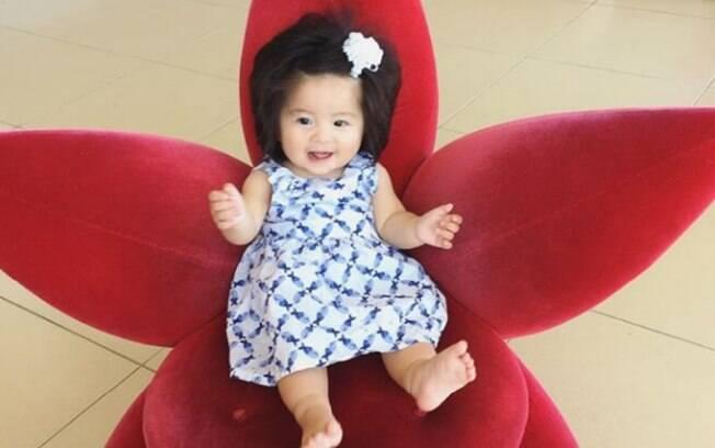 Baby Chanco, o bebê cabeludo, tem mais de 41 mil seguidores no Instagram