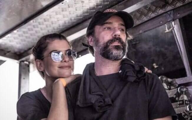Alinne Moraes e o marido, o cineasta Mauro Lima, costumam sair aos sábados para não deixar a relação cair na rotina