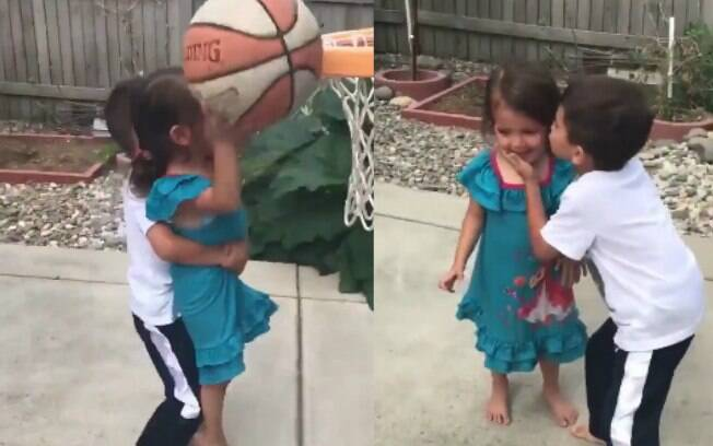 Amor de irmãos: vídeo comovente de garotinho ajudando irmã durante uma brincadeira viraliza e encanta internautas