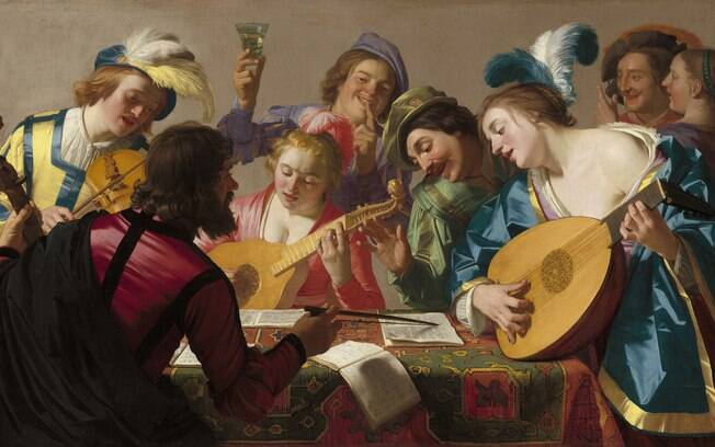 Obra de Gerard van Honthorst, de 1623, retrata a música no período renascentista