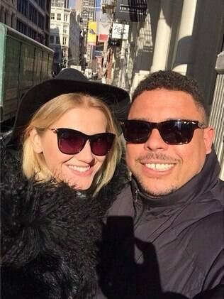 Ronaldo e Celina Locks em Nova York
