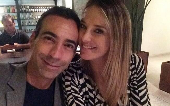 César Tralli e Ticiane Pinheiro em foto postada pelo jornalista esta semana