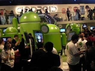 Estande do Android foi um dos mais movimentados na edição de 2011 do MWC