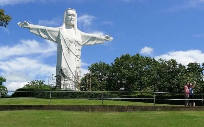 O design foi diretamente inspirado no Cristo Redentor