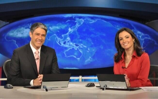 William Bonner e Patrícia Poeta na bancada do 'Jornal Nacional'