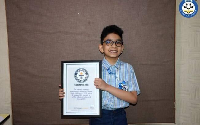 Indiano de 6 anos entra para o Guinnes como programador mais jovem do mundo