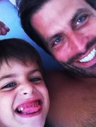 Henri Castelli com Lucas: