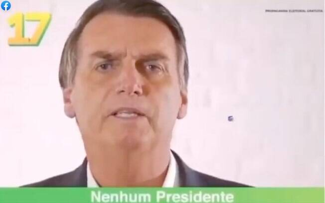 Jair Bolsonaro em vídeo da campanha presidencial de 2018