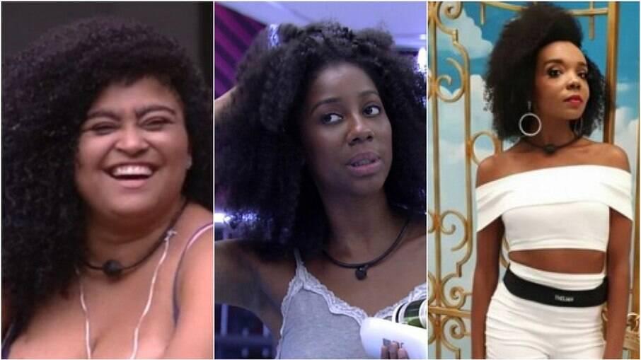 Rízia, do BBB19, Camilla de Lucas, do BBB21, e Thelma, do BBB20