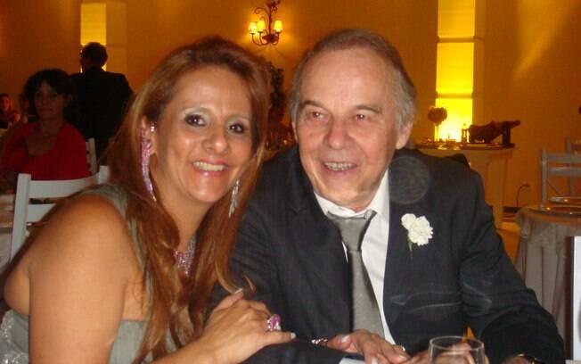 Nylcéia ao lado do marido, Evaldo Ulinski: