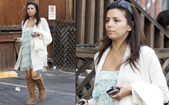 Eva Longoria em West Hollywood: nada de glamour