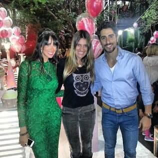 O apresentador Marcos Mion e sua mulher Suzana Gullo são clientes de Andréa