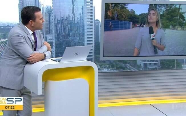 Rodrigo Bocardi insiste para que Luiza Vaz cante Sandy e Junior ao vivo no