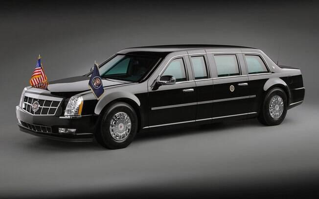 Muito além dos sistema de segurança da Toyota, temos o Cadillac One que é utilizado pelo presidente dos EUA