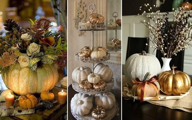 Não, você não precisa esculpir uma abóbora para entrar na onda do Halloween, elas podem servir de enfeite de outros jeitos