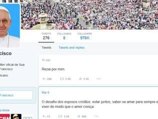 Francisco pediu, por meio do Twitter, que seus milhões de seguidores rezem por ele