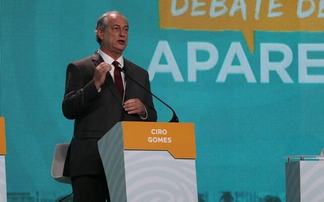 Ciro Gomes alfinetou Haddad e atacou governo Temer durante o debate