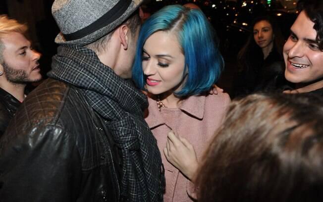 Katy Perry divertiu-se com o modelo francês