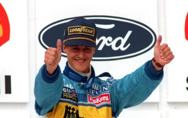 Já bicampeão do mundo, Schumacher fez em 1995 seu último ano pela Benetton e foi para a Ferrari. Foto: Getty Images