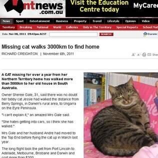 Jessie pode ter atravessado o deserto na área central da Austrália para chegar ao sul do país