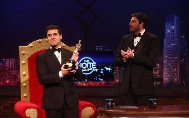 Luciano Amaral, o Lucas Silva e Silva, com Danilo Gentili