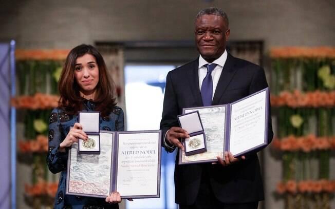 Vencedores do Nobel da Paz recebem prêmio e pedem pelo fim da impunidade dos atores de violência sexual