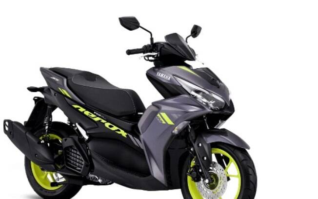 Yamaha Aerox 155 vem com câmbio automático CVT e estilo arrojado entre as principais características