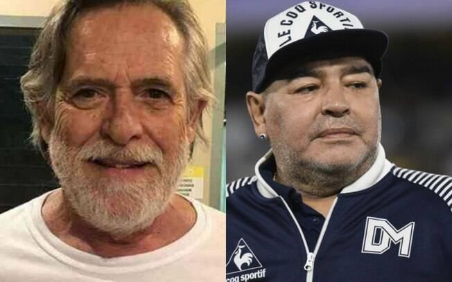 José de Abreu presta homenagem de mau gosto para Diego Maradona