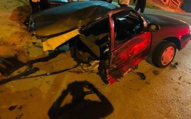 Família se safou do acidente sem nenhum ferimento grave