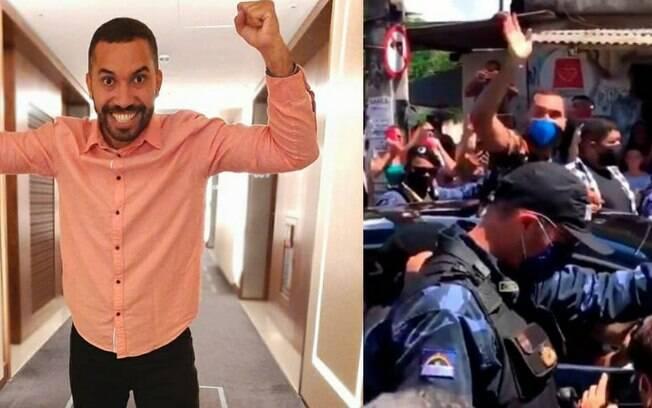 """Ovacionado! Gilberto visita sua terra natal após o BBB21 e levanta carreata em sua homenagem: """"Ícone"""""""