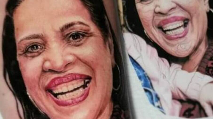 Rafael Duarte tatuou imagem da mãe Germana, morta aos 59 anos