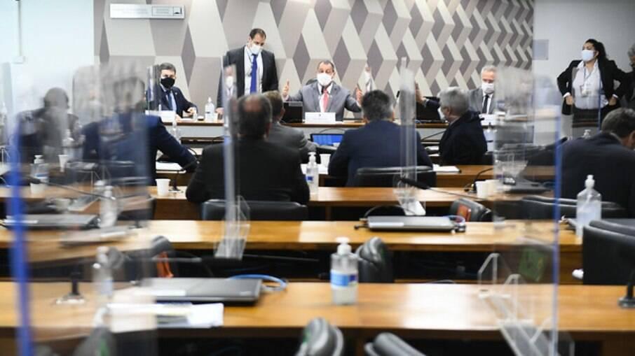 Mesa diretora da CPI da Covid