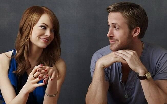 Ryan Gosling e Emma Stone foram indicados ao Oscar por La La Land, que já está em cartaz nos cinemas brasileiros