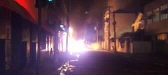 Base de UPP em Santa Teresa é alvo de tiros; ônibus são incendiados