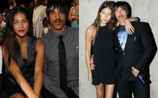Anthony Kiedis e Helena Vestergaard estiveram em vários desfiles da Semana de Moda de Nova York e posaram oficialmente como um casal