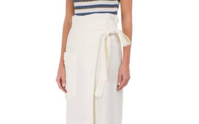 Calça Pantalona Linen OFF White Osklen por R$ 397,90 na promoção