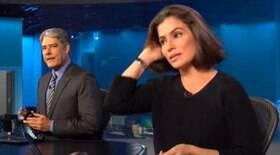 Bonner e Renata tiram férias do JN e Globo se preocupa