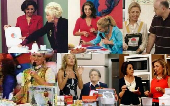 Aracy e alguns dos diversos programas que anuncia e que já anunciou nesses 20 anos de merchandising