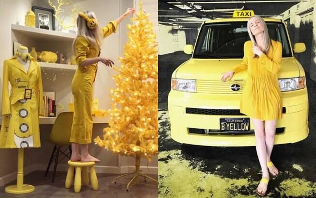 Ella London começou a usar apenas a cor amarela como uma forma de homenagear o seu pai, mas levou essa 'obsessão' além