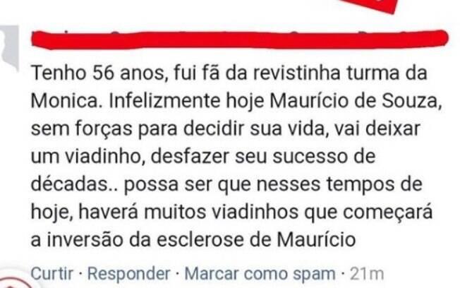 Comentário feito por seguidor de Mauro Sousa