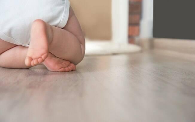A mãe descobriu que estava grávida quando foi fazer um exame e deu para ver as pernas do bebê