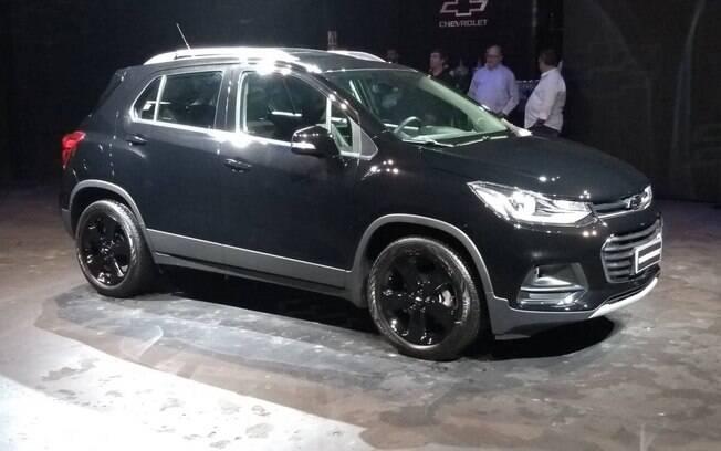 Chevrolet Tracker Midnight é apresentado à imprensa, em São Paulo. SUV estreia nas lojas no mês que vem