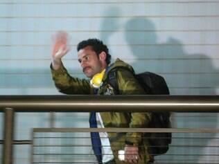 Chegada da seleção brasileira ao hotel em BH