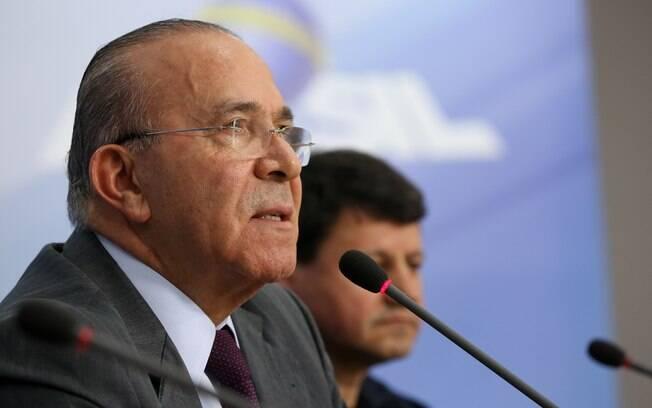 Ministro-chefe da Casa Civil, Eliseu Padilha, durante entrevista coletiva sobre o fim da greve dos caminhoneiros